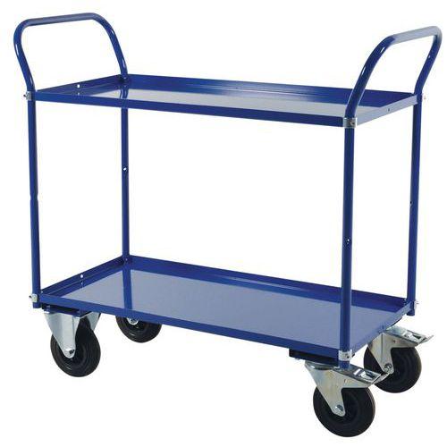 Chariot à plateaux métal - 2 plateaux - Force 400 kg