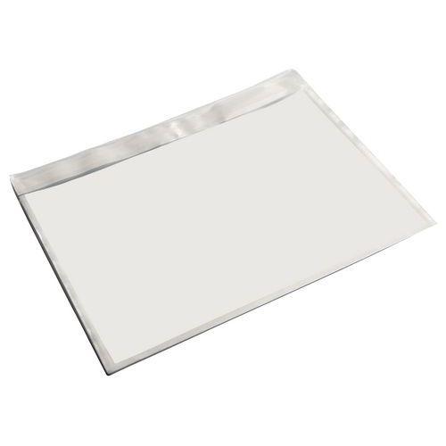 Pochette porte-documents - Kraft blanc - Sans impression