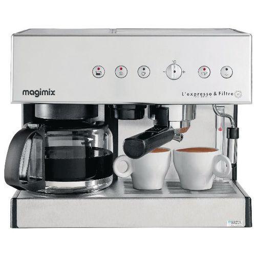 Cafetière Combiné Magimixe expresso et filtre automatique