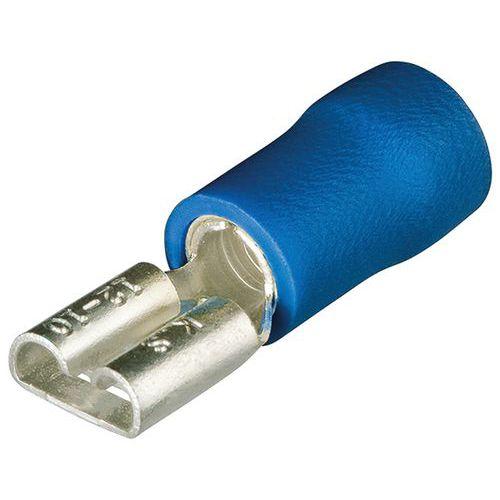 Cosses clips femelles isolées  pour câble de 1,5 à 2,5mm² et largeur 7,7mm²_ 97 99 030