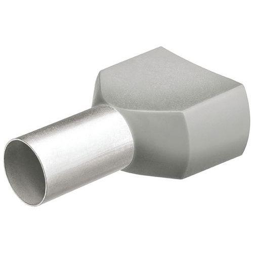 Embouts jumelés avec col en plastique pour câble 2x0,75mm²_ 97 99 371