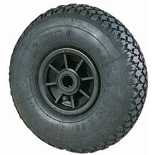Roue pour diable à crampons moyeu lisse - Forces 150 à 250 kg