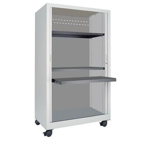 armoire multim dia mobile rideaux en t le d 39 acier 8 10e. Black Bedroom Furniture Sets. Home Design Ideas