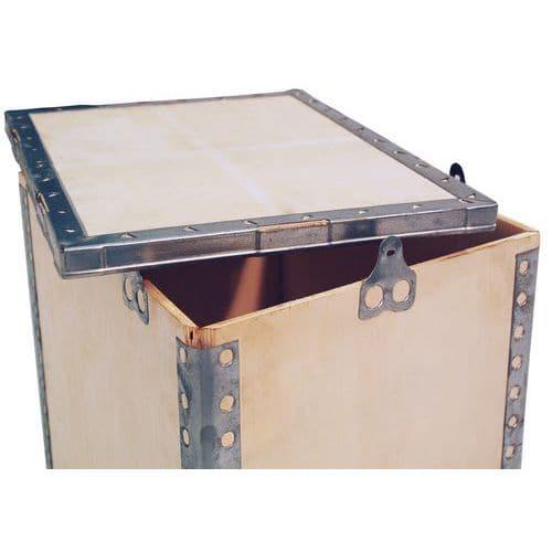 caisse de transport bois contreplaqu avec couvercle manutan f. Black Bedroom Furniture Sets. Home Design Ideas