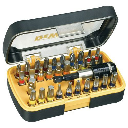 Coffret 32 pièces embouts et porte-embouts magnétique