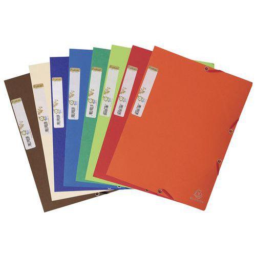 Chemise 3 rabats à élastique carte recyclée Forever  A4 - Coloris assortis - Paquet de 25
