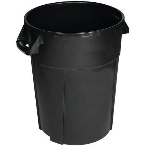 Conteneur rond - Noir - Manutan