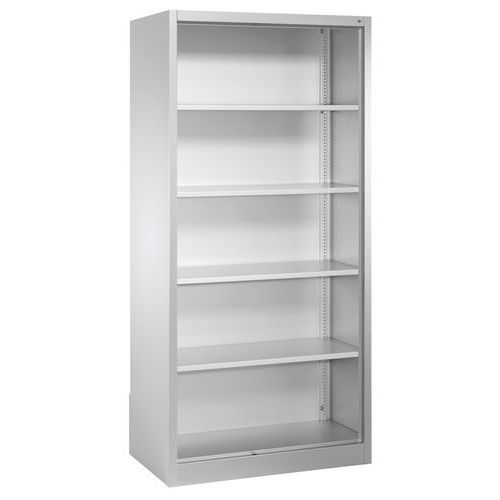 Armoire de bureau sans portes avec barres de suspension et casiers avec barres de suspension et casiers