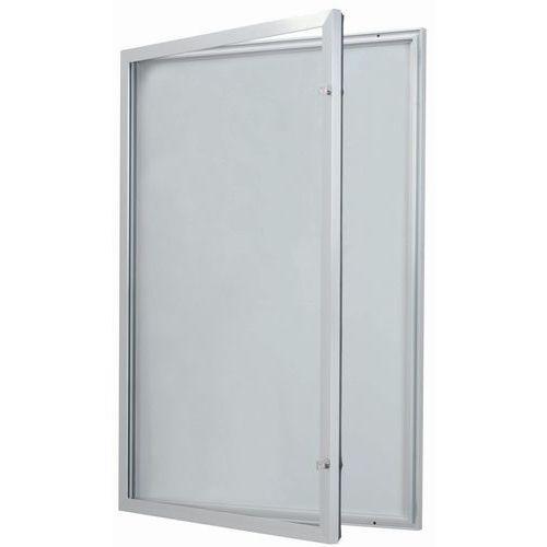 vitrine d 39 ext rieur porte battante fond aluminium porte en v. Black Bedroom Furniture Sets. Home Design Ideas