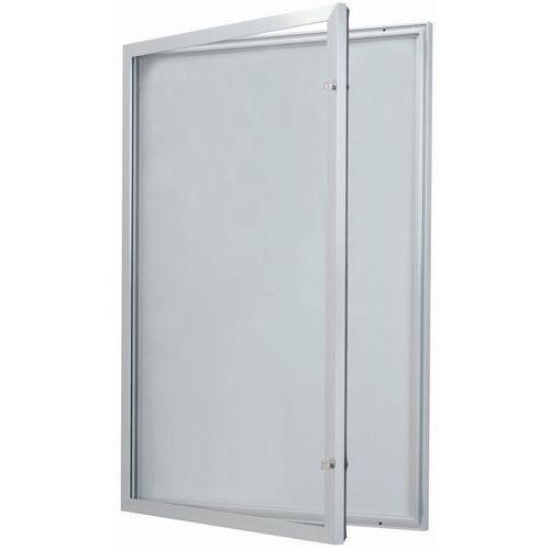 Vitrine d'exterieur porte battante - Fond aluminium - Porte en verre de sécurité - Serrure différente