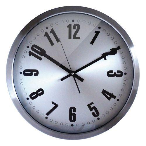 Horloge murale inox