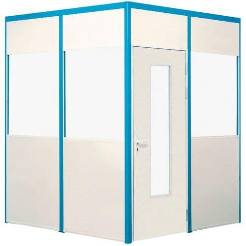 cloison simple paroi m lamin panneau semi vitr p 4 mm h. Black Bedroom Furniture Sets. Home Design Ideas
