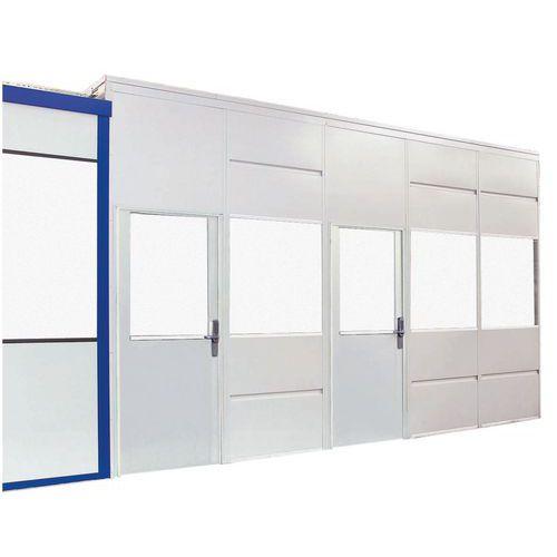 cloison simple paroi t le d 39 acier panneau vitr hauteur. Black Bedroom Furniture Sets. Home Design Ideas