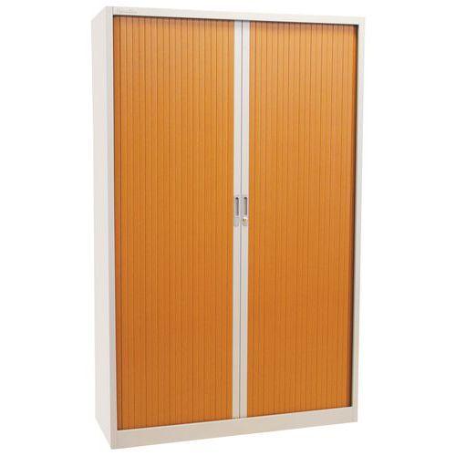 Armoire rideaux haute bicolore manutan for Armoire petite profondeur