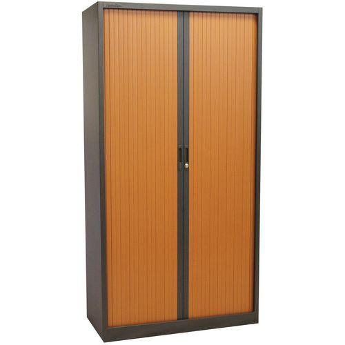 Armoire à rideaux Haute Bicolore - Manutan