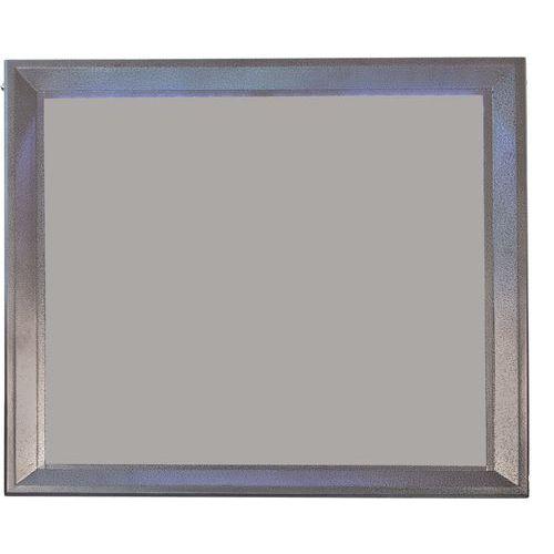 Vitrine présentoir LED gris métal