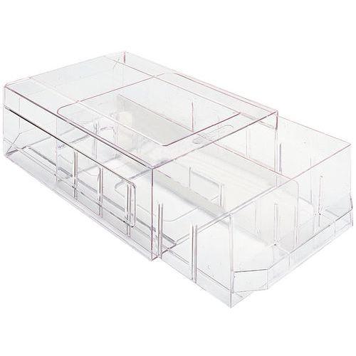 s parateur pour blocs tiroirs transparents. Black Bedroom Furniture Sets. Home Design Ideas
