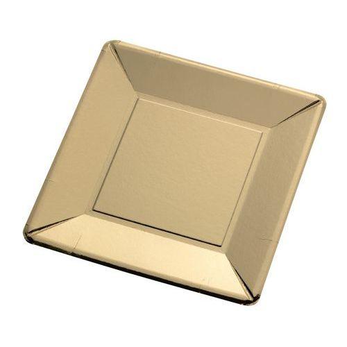 Assiettes carton doré