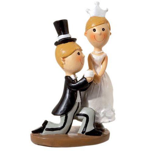 Figurine décoration gâteau - Couple Marié Sweet en polyrésine