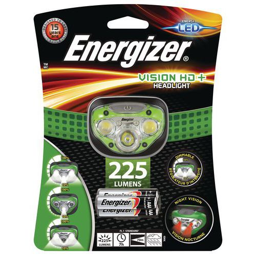 Lampe frontale 5 LED - Vision HD+ - 225 lm - Energizer