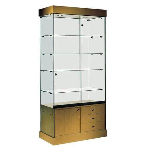 Vitrine Faggio - Avec armoire basse et éclairage