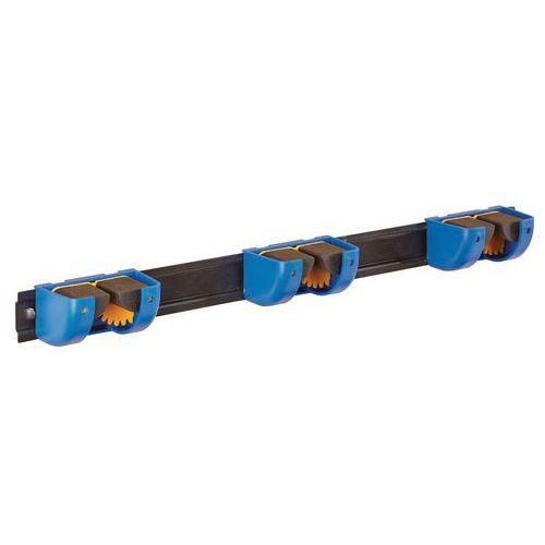 Support 3 blocs manches sur réglette - manche Ø 5 à 38mm