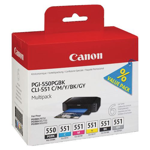 Cartouche d'encre  - PGI-550/CLI-551 - Canon