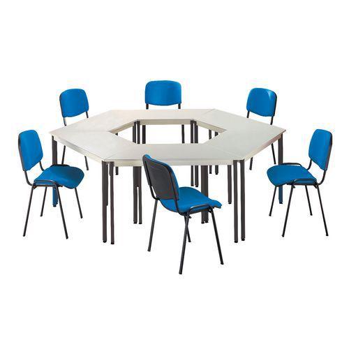 Ensemble de table de réunion 6 tables et 6 chaises