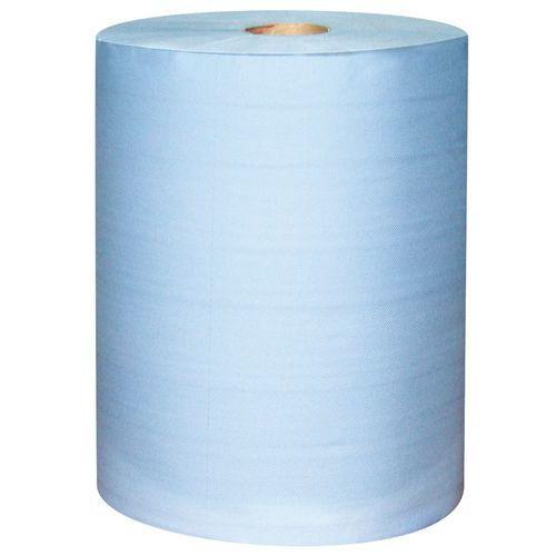 Bobine d'essuyage industriel - 1000 formats - Bleu - Ikatex