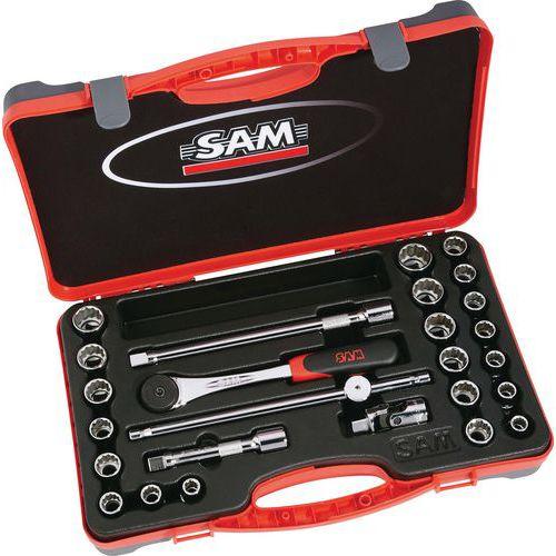 Coffret 1/2 de 26 outils en pouces et en mm