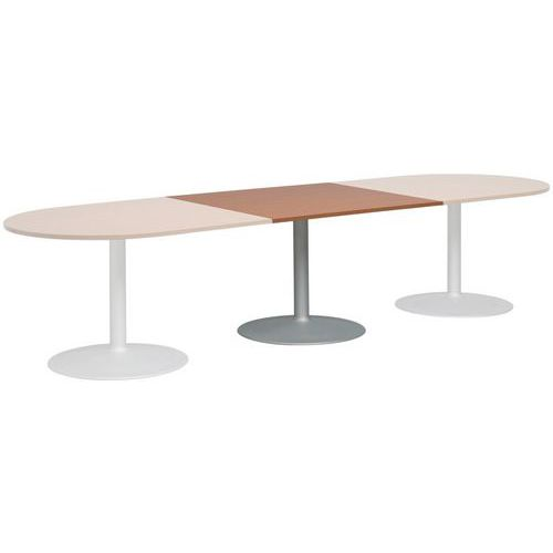 Extension rectangulaire  pour table modulaire ovale - Pied tulipe