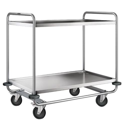 Chariot inox - 2 plateaux - Force 200 kg
