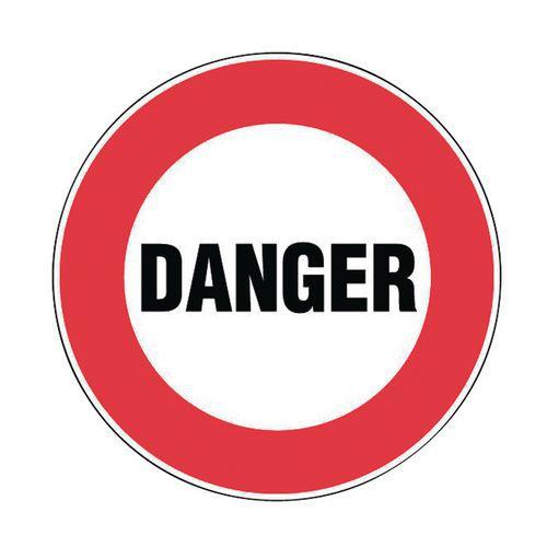 panneau d 39 interdiction danger rigide. Black Bedroom Furniture Sets. Home Design Ideas