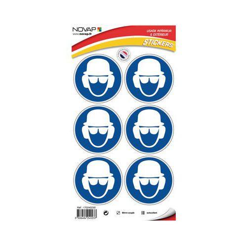 Panneau d obligation - Port de casque, lunettes de sécurité et protection  auditive obligatoire d0ce3640d061