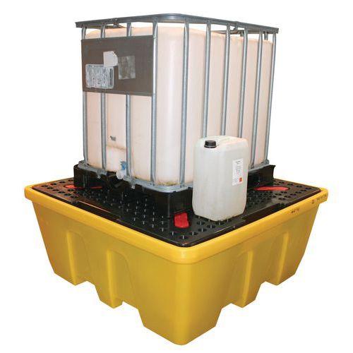 Palette de rétention pour conteneurs IBC 1130 et 1260 L