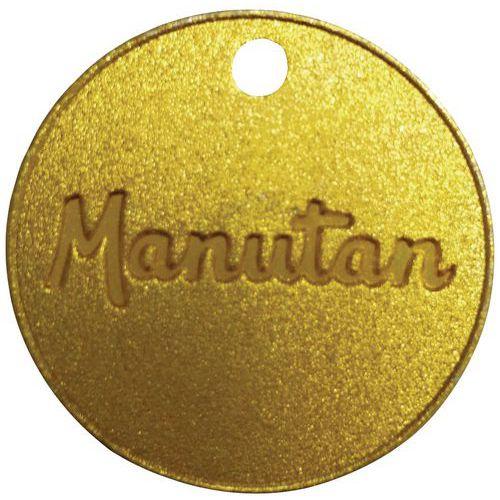 Jeton numéroté de 001 à 100 laiton 30mm (par 100) - Manutan