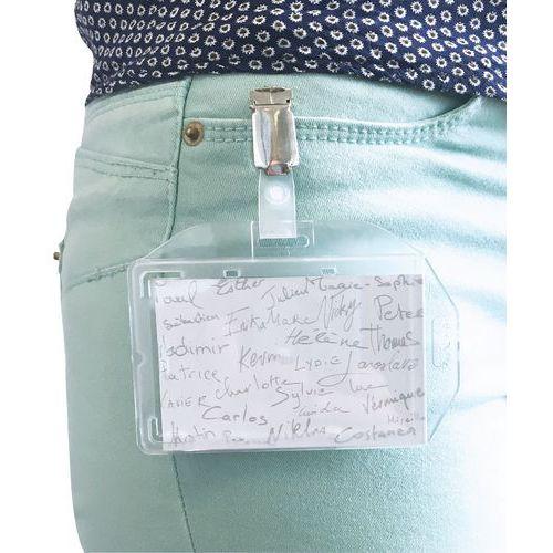 Badge de sécurité avec clip - Manutan