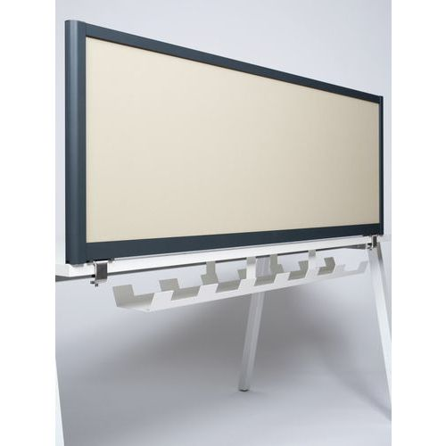 Écran de séparation acoustique 495x1400 - Profil Gris