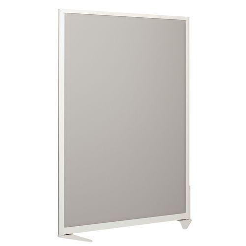 Cloison séparation acoustique 170x120 cm - Ossature blanche