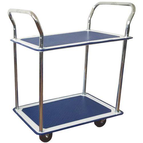 Chariot 2 plateaux - Capacité 120 kg - Manutan