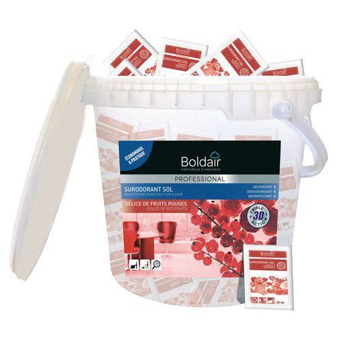 Détergent désinfectant sol et surface Boldair surodorant 3 D  fruits rouges - 50 doses