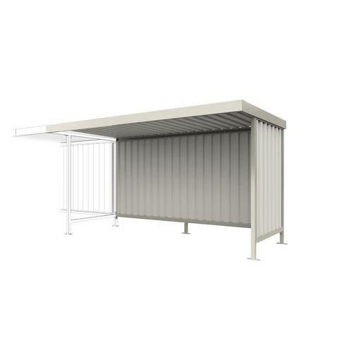 Abri Leipzig extension L15 toiture galvanisée gris clair L15,