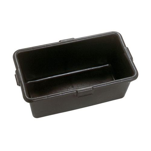 Bac rectangulaire polyéthylène noir 65 litres - Mondelin