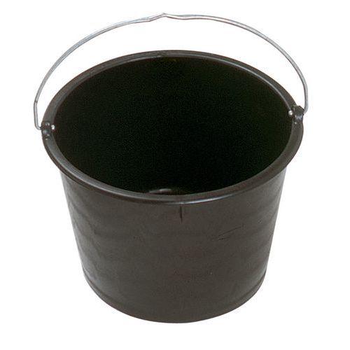 Bac rond en polyéthylène noir 20 litres avec anse - Mondelin
