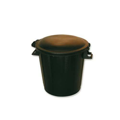 poubelle 80 litres avec poign es mondelin. Black Bedroom Furniture Sets. Home Design Ideas