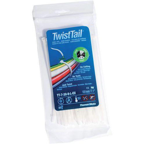 les clients d'abord prix plus bas avec vente à bas prix Collier de serrage sécable Twist Tail - Largeur 4,7 mm - Manutan.fr