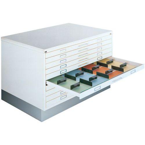 Plateau de recouvrement pour armoire à tiroirs à dessins