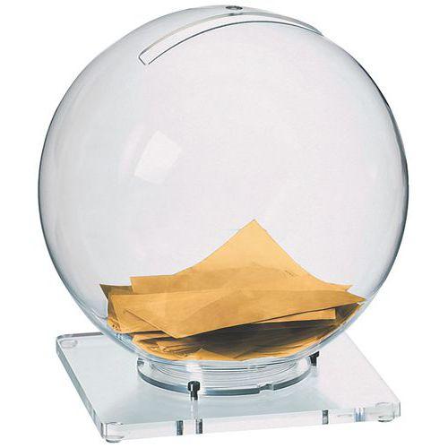 Urne boule de cristal - Sur socle