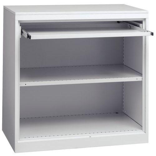 armoire d 39 atelier avec tablette coulissante. Black Bedroom Furniture Sets. Home Design Ideas