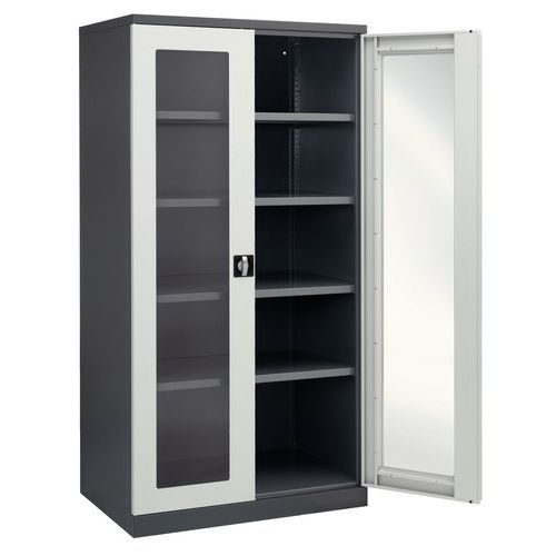 armoire d 39 atelier fen tres transparentes. Black Bedroom Furniture Sets. Home Design Ideas
